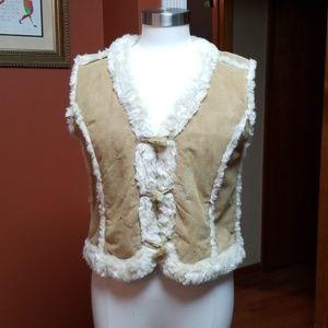 "Wilson's Leather ""fur"" lined vest"